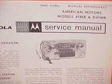 1964 RAMBLER AMBASSADOR CLASSIC AMERICAN MOTOROLA AM RADIO SERVICE SHOP MANUAL