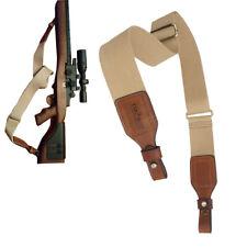 Sling Arma Rifle Espingarda alças de Couro Ajustável tático dois pontos Sling Novo