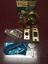 Dexter Single Cylinder Keyed Brass Deadbolt