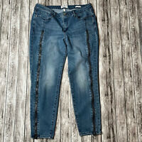William Rast Unique Full Zipper Leg Ankle Skinny Jeans Blue Size 31 5-Pocket