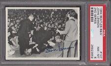 1964  OPC  BEATLES  B&W  # 107  JOHN LENNON  PSA 8   DARK BACK