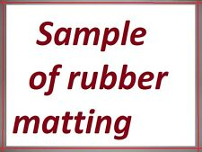 sample of rubber matting including postage & packing from rubber4you eBay range