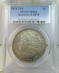 1878 7tf rev'78 Morgan dollar PCGS MS62 EP