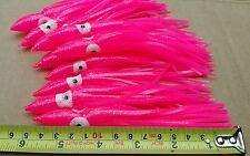 10Pack Pink Squid Octopus Skirts 14cm Fishing Lure Trolling Skirt Rigs Game Lure