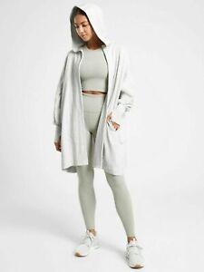 ATHLETA Mantra Wrap M Medium | Light Grey Heather Sweater Top NEW