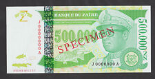 ZAIRE  500,000 Zaires 1996  UNC  P78s  SPECIMEN