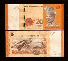 MALAYSIA 20 RINGGIT P54 2012 New Sign Sea Turtle Animal UNC MONEY Asia BANK NOTE
