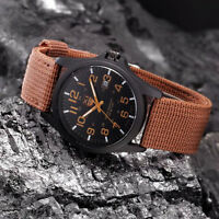 NEW Men's Date Canvas Sport Watch Analog Quartz Fashion Army Wrist Watches
