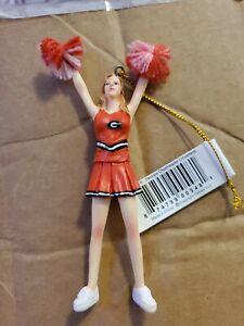 Georgia Cheerleader Ornament NIB Nice