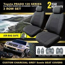 Custom Made Seat Covers for Toyota PRADO 120 Series 3ROW 2003-10/2009 CHARCOAL