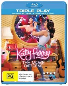 Katy Perry Part Of Me The Movie Blu Ray + DVD 2-Discs VGC Rated PG Region B Aus