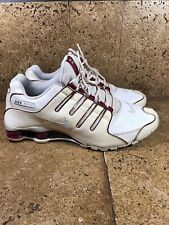 Nike Shox NZ Mens Red White Platinum 378341-145 Runnjng Shoes Size 13
