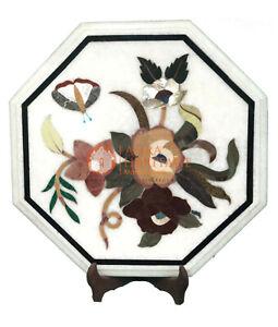 "15"" Marble Console Furniture Top Table Mosaic Rare Inlay Art Hallway Decor E139"