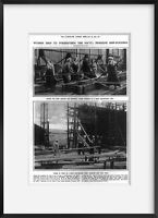 Vintage 1916 photograph of Women help to strengthen the Navy: feminine ship-buil