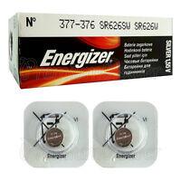 2 x Energizer 377 376 batteries Silver Oxide 1.55V SR66 SR626SW Watch EXP:2020