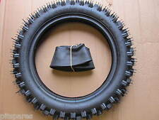"Tyre and Tube 12"" 80/100-12 Knobbly Rear Pit Dirt Bike Pitbike 3.00-12 300/12 MX"