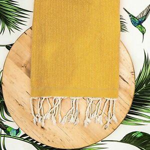 "Extra Large Turkish Towel Peshtemal Turkish Beach Towel 39"" X 74""  yellow"