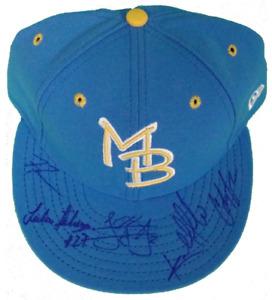 Braves / Myrtle Beach Pelicans Signed Hat w/ Freddie Freeman, Julio Teheran + 3
