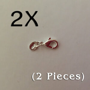 2x 925 STERLING SILVER LOBSTER CLASP CLAW JUMP RING FINDING PARROT BUCKLE HOOK