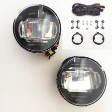 White LED DRL Fog Light set for 2011-2012 Ford Transit Connect with Wire Switch