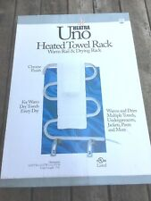New Heated Towel Rack Heatra Uno Chrome Finish in Box Bathroom Swimming Pool