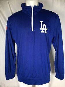 Los Angeles Dodgers SGA Coca Cola Long Sleeve 1/4 Zip Pullover Shirt Mens MEDIUM