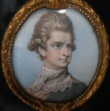 FINELY PAINTED GEORGIAN PERIOD FRENCH PORTRAIT MINIATURE OF A YOUNG GENTLEMAN