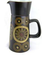 Retro Design Jug Denby Pottery Arabesque Pattern by Gill Pemberton Vintage 1960s