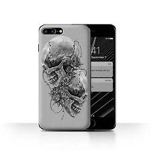 STUFF4 Case/Cover for Apple iPhone 7 Plus/Skull Art Sketch/Roses