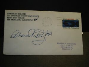 USS SNOHOMISH COUNTY LST-1126 Naval Cover 1963 SIGNED Honolulu, Hawaii
