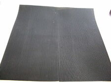 Ribbed Grooved Corrugated Anti vibration Rubber Sheet Mat Neoprene 460x460 x 4mm