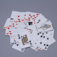 100% PLASTIC New Poker Size Good Playing Cards Excellent Large Numbers Red YVQ