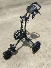 New ClicGear Rovic RV1S Push Pull Golf Bag Cart Charcoal Black - Clic Gear
