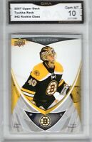 GMA 10 GEM Mint TUUKKA RASK 2007/08 Upper Deck ROOKIE CARD BRUINS!