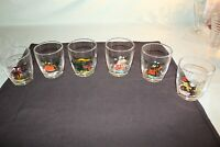 Set of 6 Vintage On the Rocks Glasses Open Sleigh Bicycle for 2 Gas Buddy
