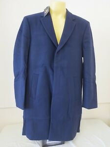 "LYLE & SCOTT VINTAGE MENS SINGLE BREASTED COAT NAVY 2XL XXL CHEST 51"" NEW RRP350"