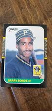 1987 DONRUSS BARRY BONDS ROOKIE CARD PITTSBURGH PIRATES GIANTS ARIZONA STATE 361