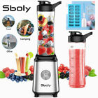 Personal Blender 20oz Smoothie Fruit Juice Shakes 2 Portable Bottle Sboly Single