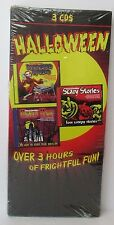 3 HALLOWEEN CD'S Haunted House Scary Stories Monster Music 3 Hours Of Fun