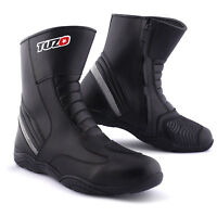 Tuzo Rabus Mens Motorcycle Motorbike Short Waterproof Lorica Black Boots