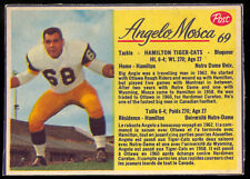 1963 POST CFL FOOTBALL #69 ANGELO MOSCA EX-NM HAMILTON TIGER CATS NOTRE DAME