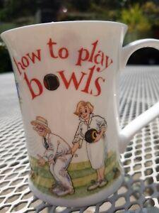 How To Play Bowls,  Dunoon Fine Bone China Mug