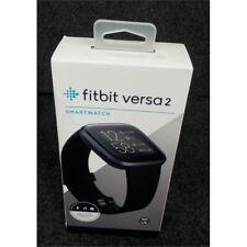 Fitbit Fb507Bkbk Versa 2 Smartwatch Sm/Lg Black & Carbon Aluminum