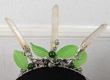 Alseides Grove Nymph Crystal Crown, Wedding Tiara Handfasting Real Quartz Points