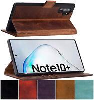 Hülle für Samsung Galaxy Note 10 Plus Klapp Tasche Leder Book Cover Suncase 10+