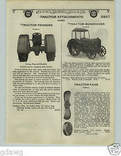 1924 PAPER AD Fordson Tractor Accessories Fenders Fans Guards Implement Hitch