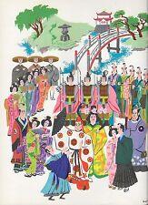 Lucille Corcos Gilbert & Sulllivan's The Mikado 1941 Color Print