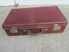 ancienne valise cuir bordeaux