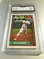 JOSE CONSENCO ALL STAR 1992 Topps #401 GMA Graded 10 Gem Mint