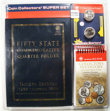 Coin Collectors' Super Set State Quarter folder 2 quarters and US coin booklet